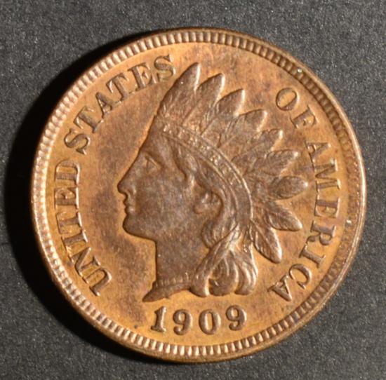 1909 INDIAN HEAD CENT CH BU RB