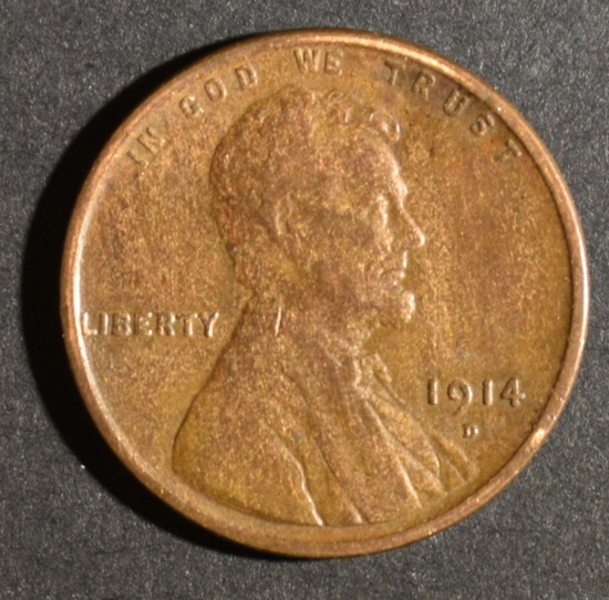 1914-D LINCOLN CENT XF+