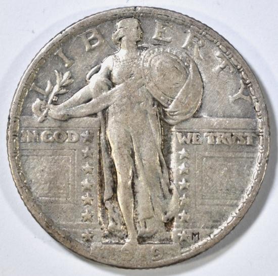 1919 STANDING LIBERTY QUARTER XF
