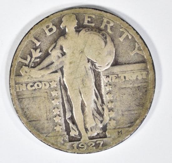 1927-S STANDING LIBERTY QUARTER VG