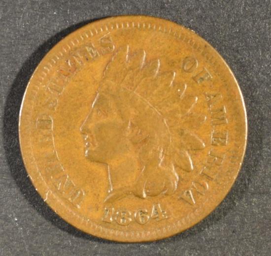 1864 L INDIAN HEAD CENT FINE