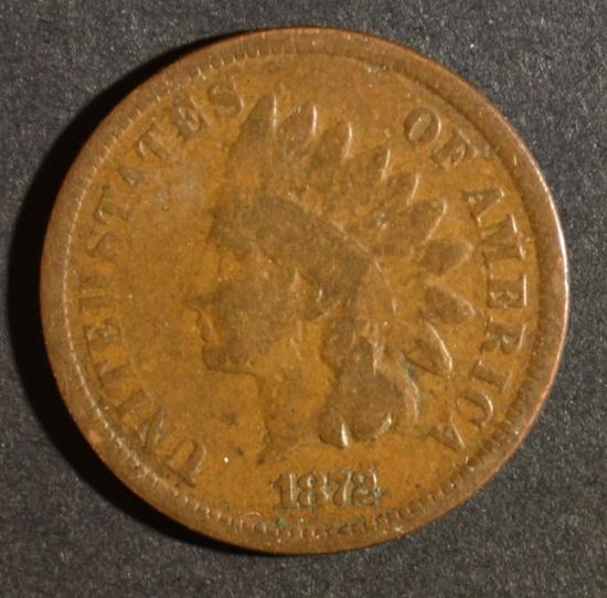 1872 INDIAN HEAD CENT G/VG