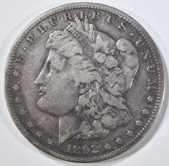 1892-S MORGAN DOLLAR F/VF