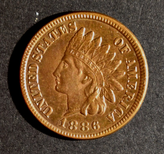1886 T-1 INDIAN CENT XF