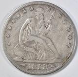 1853-O ARROWS & RAYS SEATED HALF DOLLAR VF