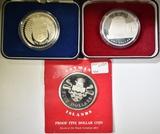 3 STERLING SILVER .925 COINS IN ORIG. PACKAGING