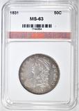 1831 BUST HALF DOLLAR  AGP CH BU