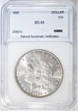 1892 MORGAN DOLLAR  NNC CH/GEM BU