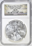 2014-(W) AMERICAN SILVER EAGLE  NGC MS-70