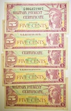 5-SERIES 591 5-CENT MILITARY PAYMENT CERTIFICATES
