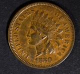 1880 INDIAN HEAD CENT AU
