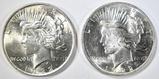 2 1922 PEACE DOLLARS CH BU