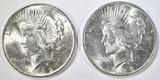1922 & 23 PEACE DOLLARS BU