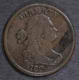 1804 SPIKED CHIN HALF CENT VF