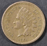 1860 POINTED BUST INDIAN HEAD CENT  XF