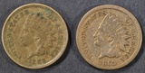1862 & 63 INDIAN HEAD CENTS  XF