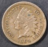 1864 CN INDIAN HEAD CENT  XF
