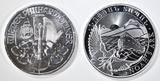 2021 PHILHARMONIC & 2021 NOAH'S ARK SILVER COINS