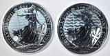 2021 BRITISH SILVER ROBIN HOOD & BRITANNIA COINS
