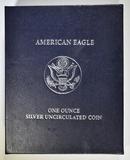 2007-W BURNISHED SILVER EAGLE ORIG BOX/COA