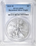 2015-W BURNISHED SILVER EAGLE PCGS SP-69