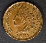 1901 INDIAN HEAD CENT GEM BU BN