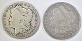 1901-S & 1903-S MORGAN DOLLARS  GOOD