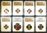 8 NGC GRADED LINCOLN COINS:
