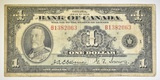 1935 CANADA $1 NOTE PRINTED IN ENGLISH.