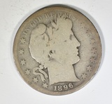 1896-S BARBER HALF DOLLAR  AG