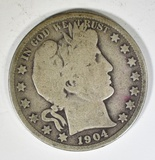 1904-S BARBER HALF DOLLAR  GOOD