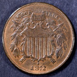 1872 2 CENT PIECE AU