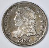 1834 BUST HALF DIME VF/XF