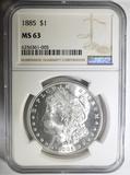1885 MORGAN DOLLAR  NGC MS-63