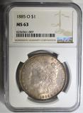 1885-O MORGAN DOLLAR  NGC MS-63