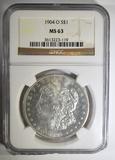 1904-O MORGAN DOLLAR  NGC MS-63