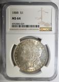1888 MORGAN DOLLAR  NGC MS-64