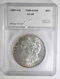 1882-O/S MORGAN DOLLAR  SEGS AU/BU