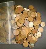 500 MIXED DATE LINCOLN WHEAT CENTS