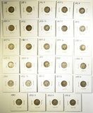 29 MIXED DATE MERCURY DIMES  1916 - 1926