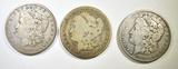 1883-O, 86-O, 87-O MORGAN DOLLARS