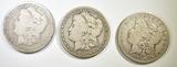 1890-O, 91-O, 1900-O MORGAN DOLLARS