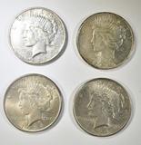 (2) 1924, 1925, 1926-S PEACE DOLLARS
