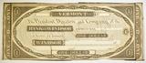 18-- $1 REMAINDER NOTE BANK OF WINDSOR VERMONT