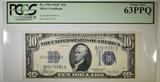 1934-C $10 SILVER CERTIFICATE PCGS 63 PPQ