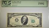 1950-C $10 FRN PCGS 67 PPQ Fr# 2013-C