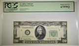 1950 $20 FRN PCGS 67 PPQ Fr# 2059-C