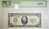 1934-D $20 FRN PCGS 66 PPQ Fr# 2058-C