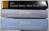 2009, 10 & 11 U.S. PROOF SETS