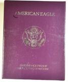1992-S PROOF AMERICAN SILVER EAGLE ORIG BOX/COA